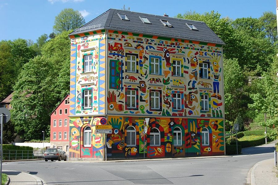 adelaparvu.com despre cladiri pictate, artist Michael Fischer Art (12)