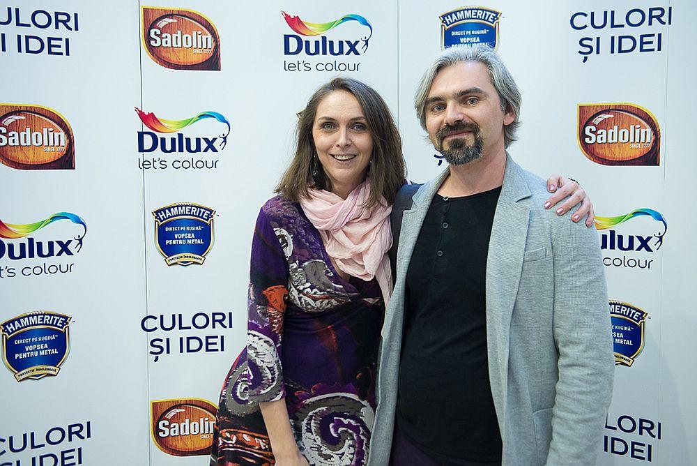 Alături de designerul și pictorul Daniel Tufiș
