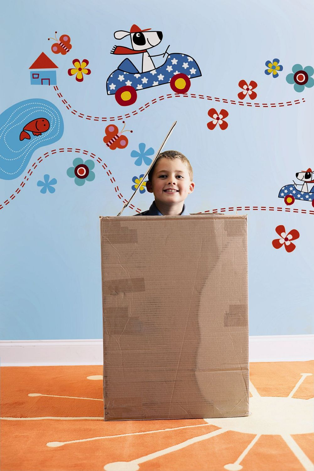 Stickerele pentru camera copilului le poti aseza cum vrei tu