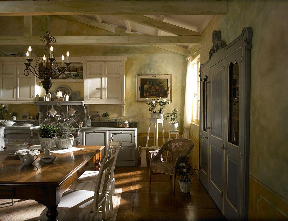 adelaparvu.com despre bucatarii rustice, bucatarii country style, model Dhialma, Marchi Cucine (5)