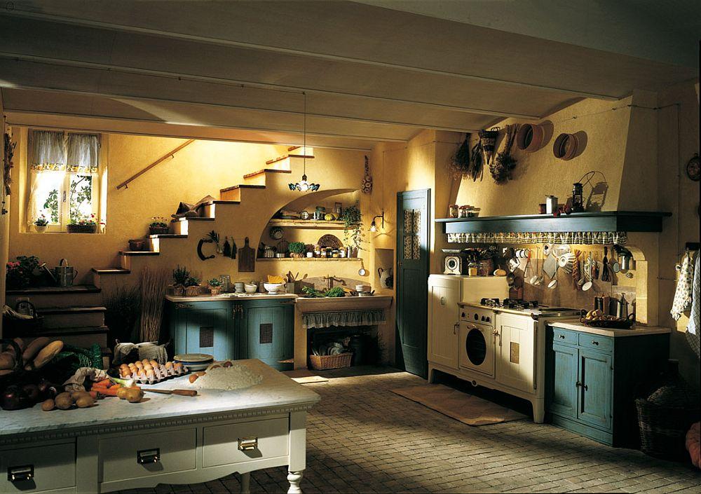 adelaparvu.com despre bucatarii rustice, bucatarii country style, model Doria, Marchi Cucine (1)