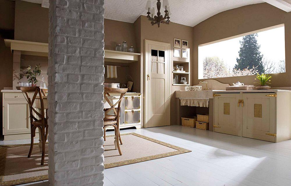 adelaparvu.com despre bucatarii rustice, bucatarii country style, model Doria, Marchi Cucine (6)
