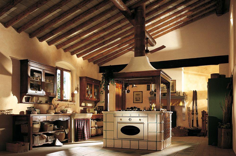 adelaparvu.com despre bucatarii rustice, bucatarii country style, model Hemingway, Marchi Cucine (1)