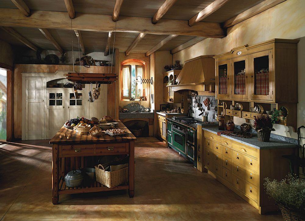 adelaparvu.com despre bucatarii rustice, bucatarii country style, model Incontrada, Marchi Cucine (6)