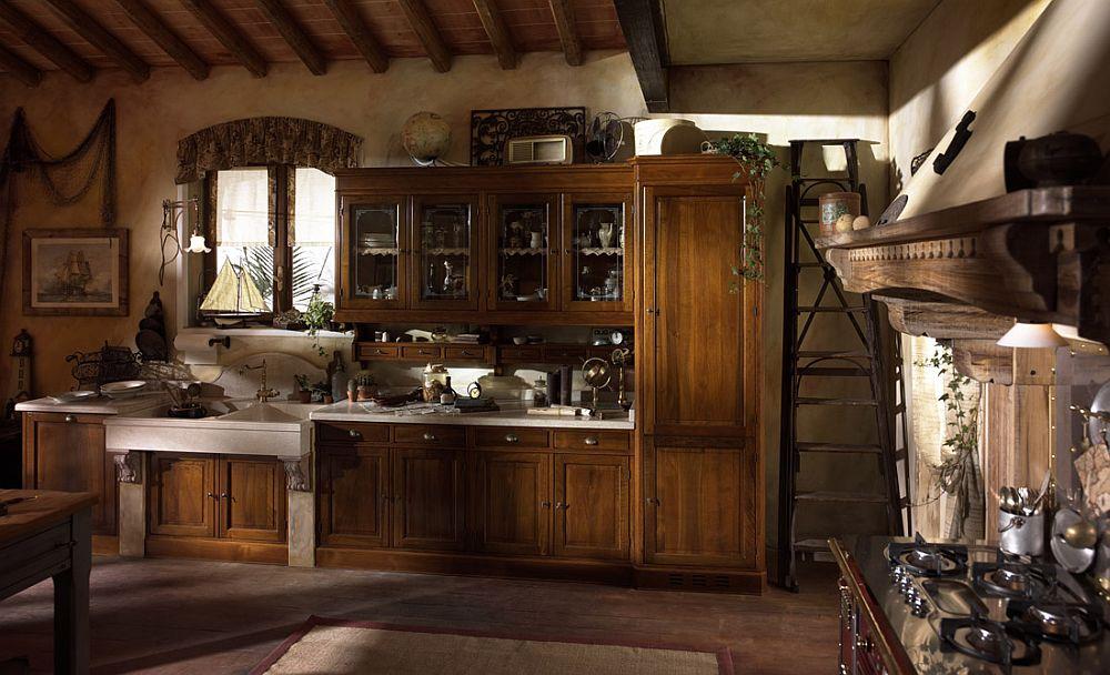 adelaparvu.com despre bucatarii rustice, bucatarii country style, model Valenzuela, Marchi Cucine (1)