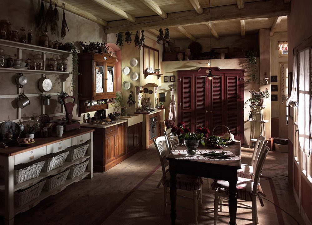 adelaparvu.com despre bucatarii rustice, bucatarii country style, model Valenzuela, Marchi Cucine (5)