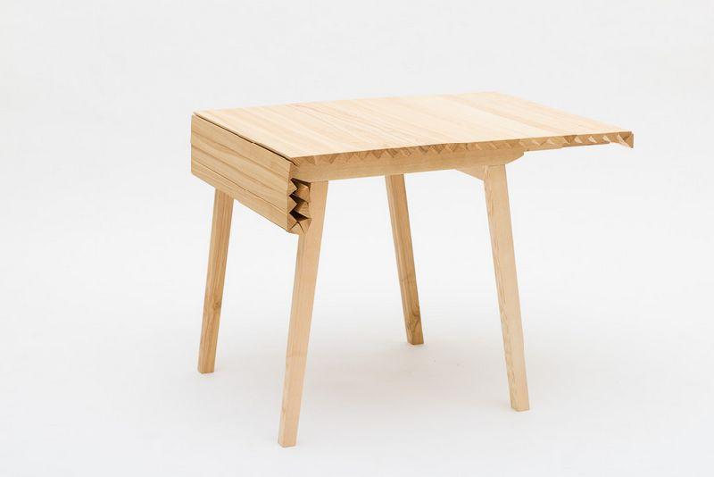 adelaparvu.com despre masa cu fata reglabila, Wooden Clothe, design Nathalie Dackelid  (3)
