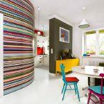 adelaparvu.com despre apartament mic si colorat, design interior Agata Debicka Cieszynska, Twin Pigs  (4)