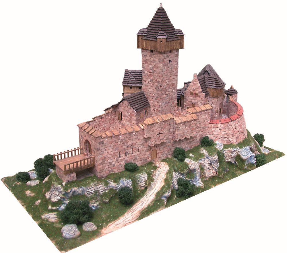 adelaparvu.com despre kituri de constructie, castelul Burg Falkenstein Atelierul de Modelism