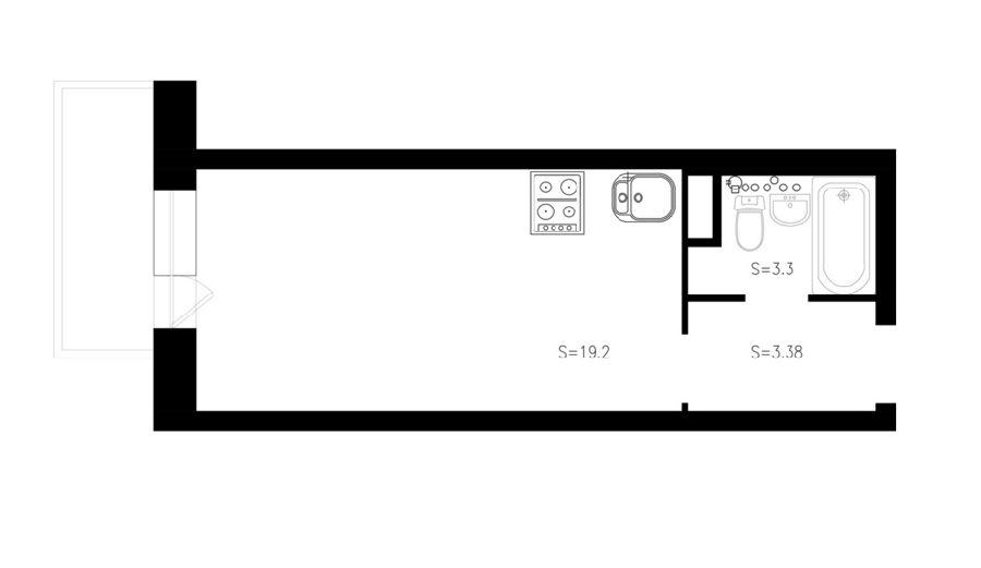 adelaparvu.com despre proiect garsoniera 25 mp, spatiu lung si ingust, design interior Zukkini (14)