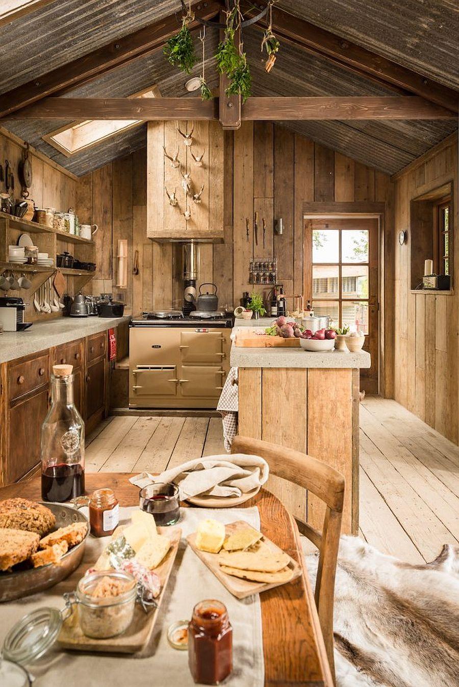 de poveste acest refugiu rustic o caban armant din lemn cu teras i gr din adela p rvu. Black Bedroom Furniture Sets. Home Design Ideas