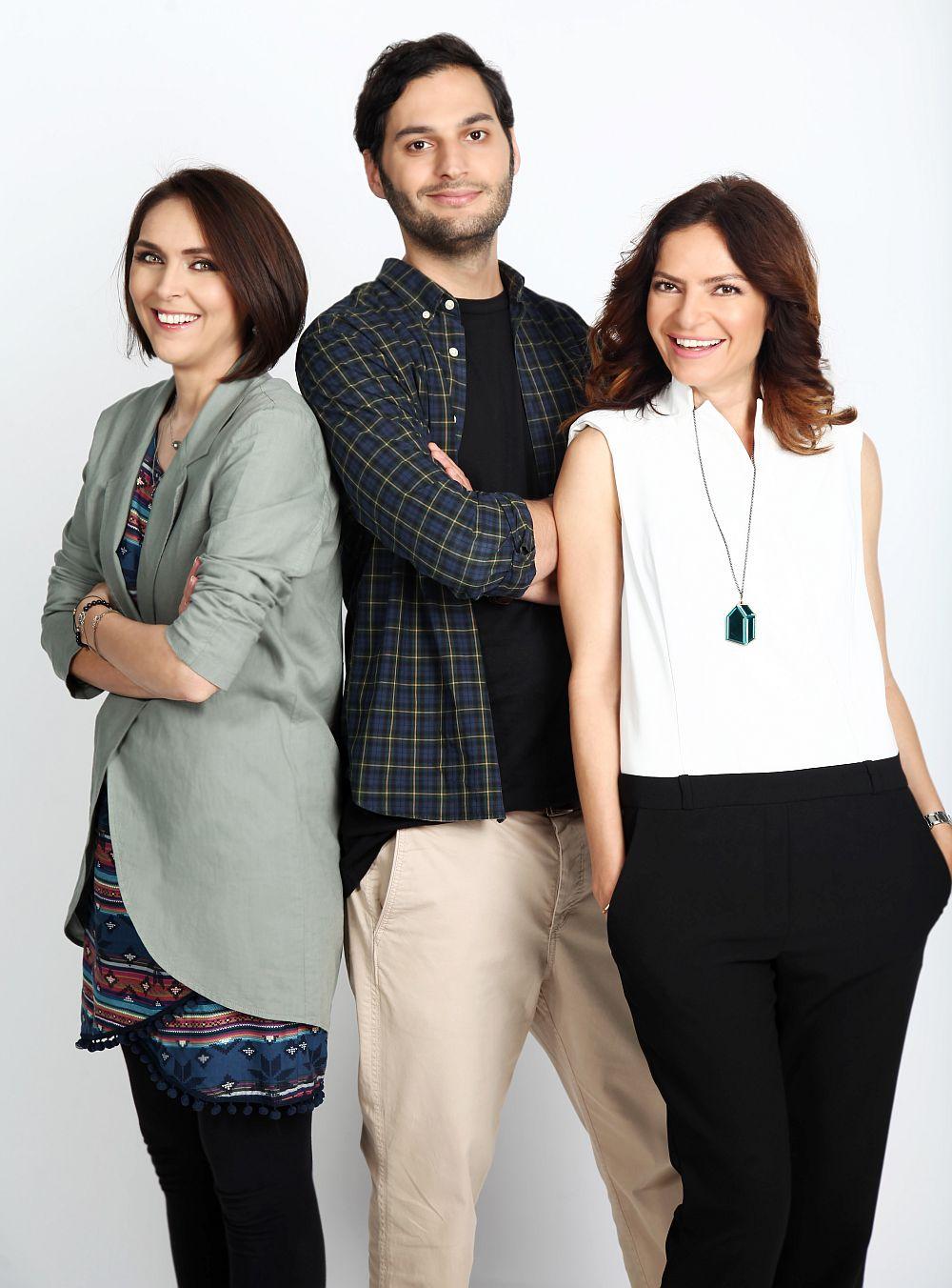 Adela Parvu, Alina Vilcu si Omid Ghannadi