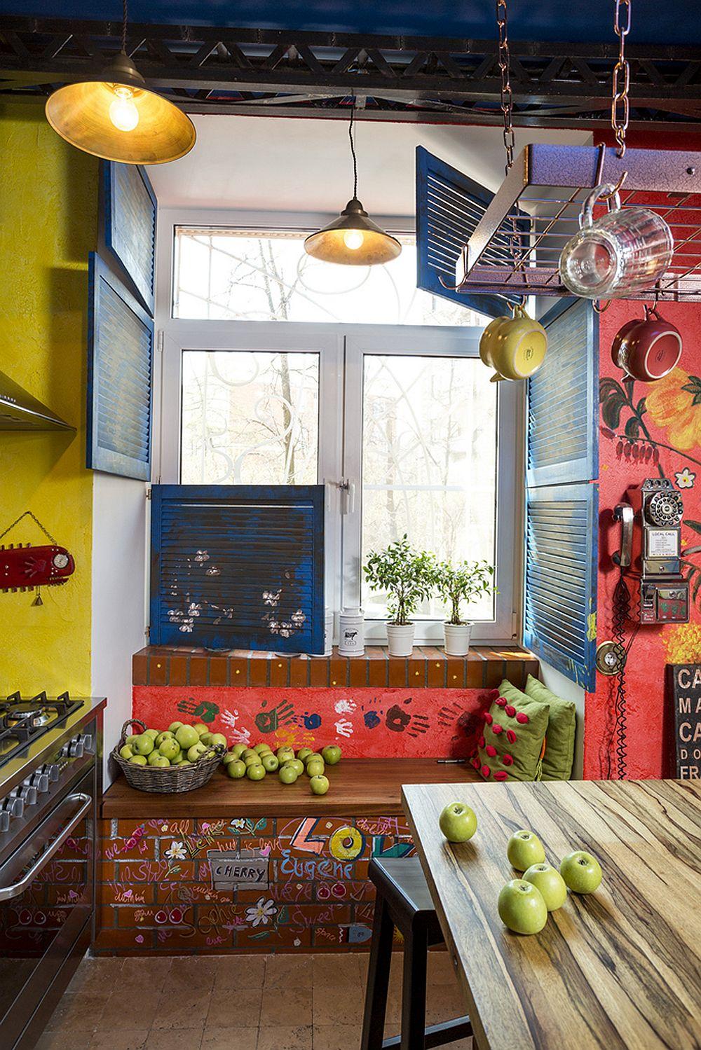 adelaparvu.com despre locuinta creativa Moscova, 82 mp, design lenka.design, designer Elena Fateeva (4)
