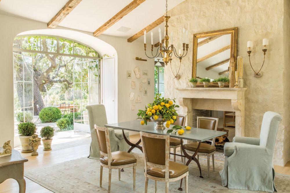 adelaparvu.com despre Patina Farm, California, living si sufragerie, arhitectura si design Giannetti Home (10)