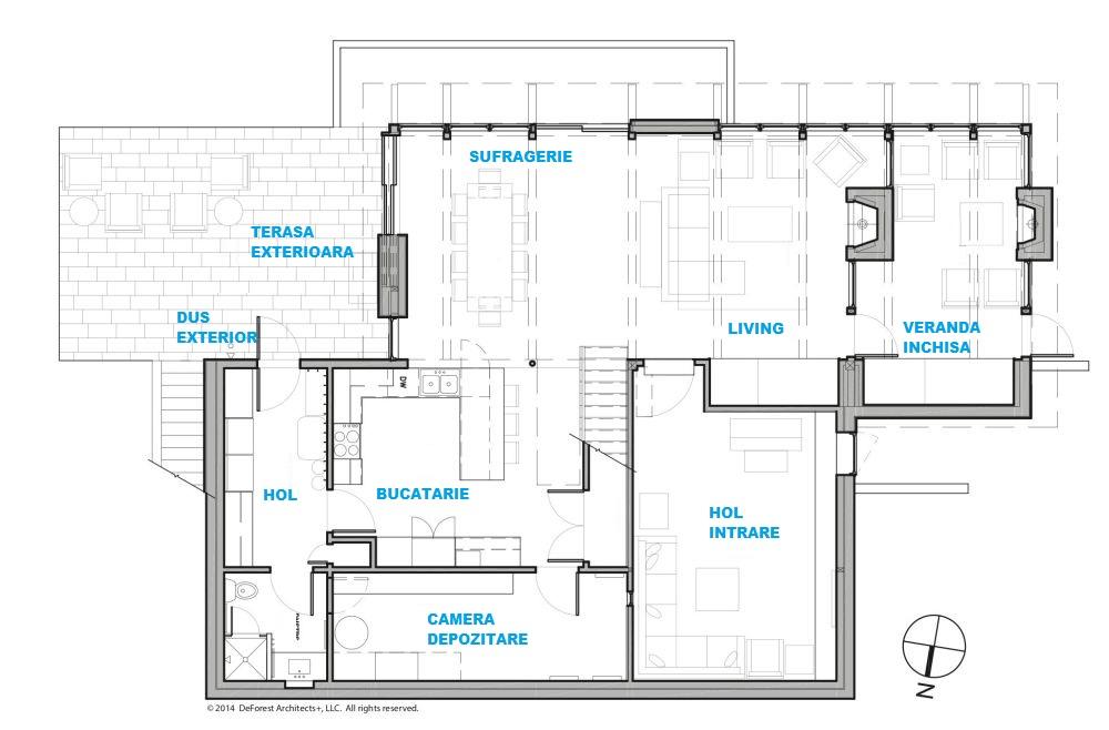 Plan parter, arhitectură DeForest Architects