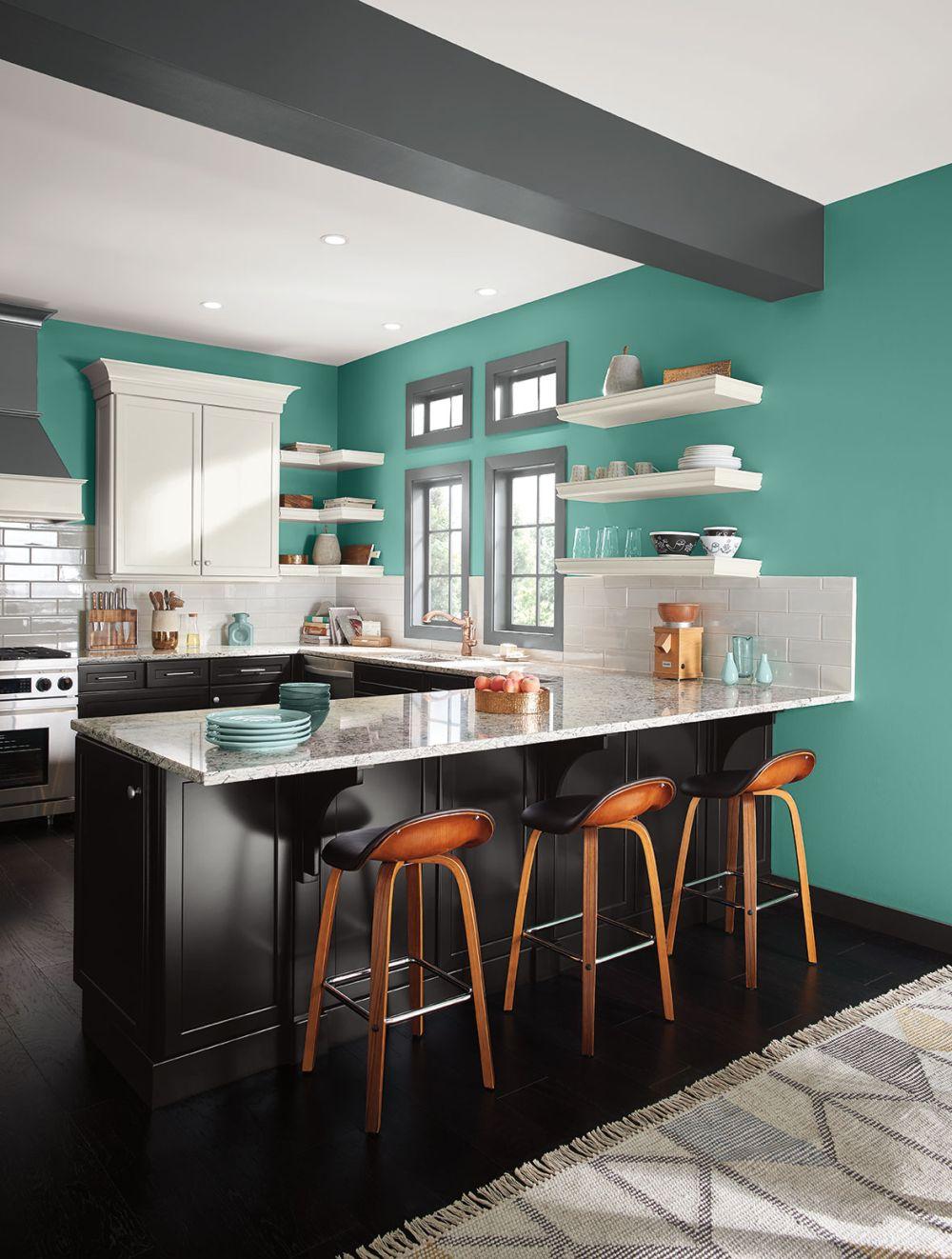 Culorile anului 2017 n design interior adela p rvu for Cocina pintura pato azul