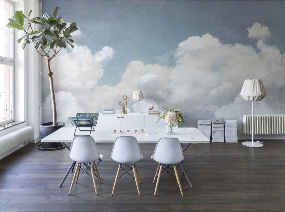 adelaparvu.com despre tapet cu nori, model Cuddle Clouds, design si foto RebelWalls (2)