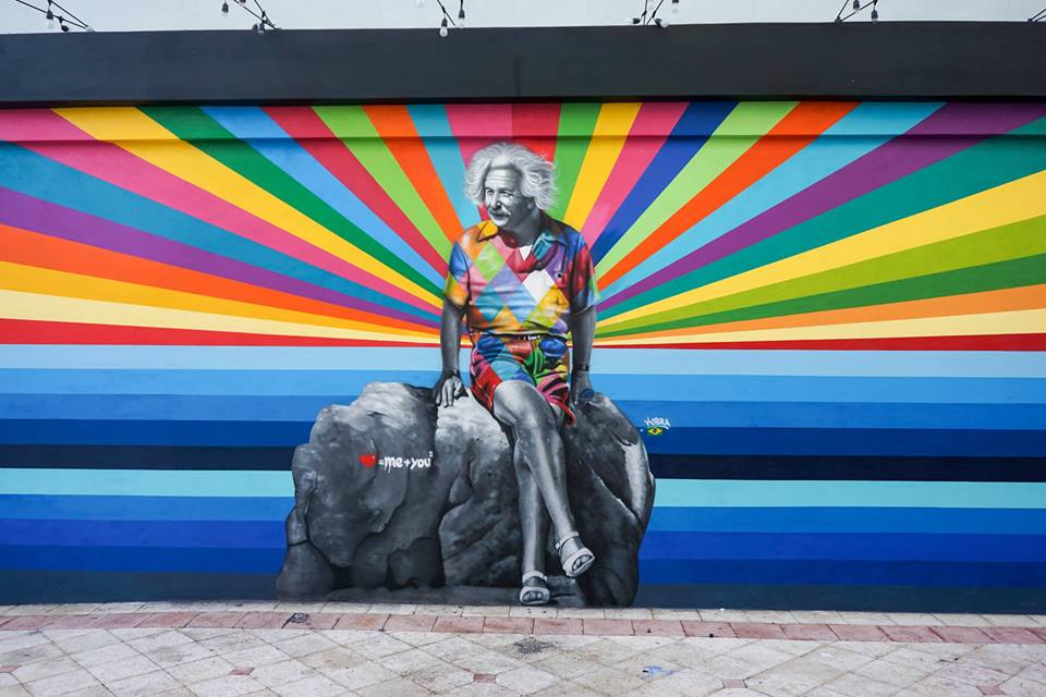 adelaparvu.com despre Eduardo Kobra artistul graffiti al oraselor, murala Einstein (1)