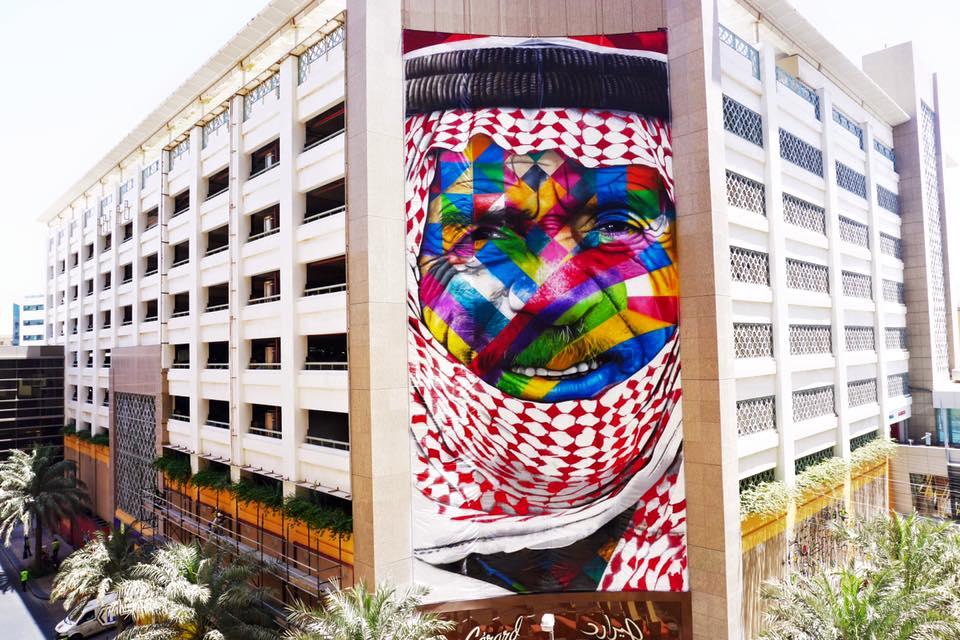 adelaparvu.com despre Eduardo Kobra artistul graffiti al oraselor, murala in Dubai (2)