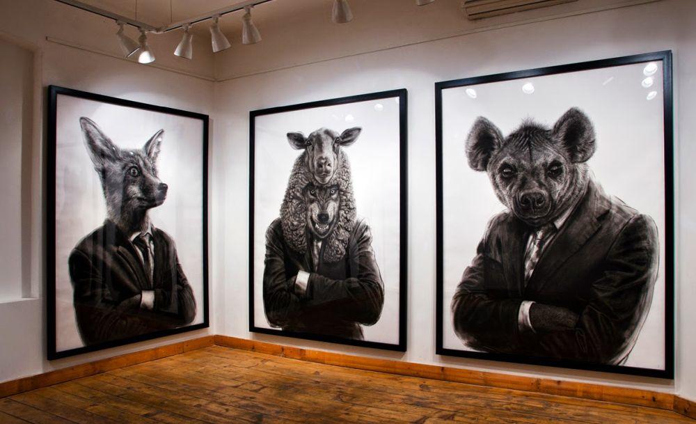 adelaparvu.com despre expozitia Political Bestiary, 2014, Casa Artelor Mogosoaia, Artist Valeriu Mladin (1)
