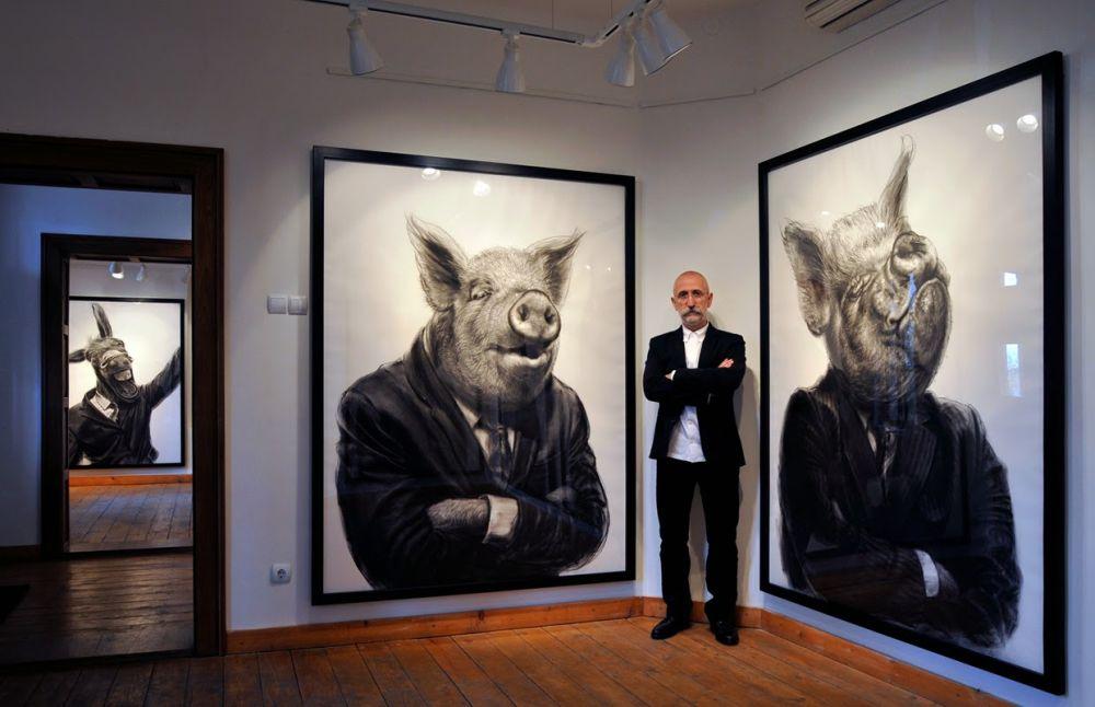 adelaparvu.com despre expozitia Political Bestiary, 2014, Casa Artelor Mogosoaia, Artist Valeriu Mladin (7)