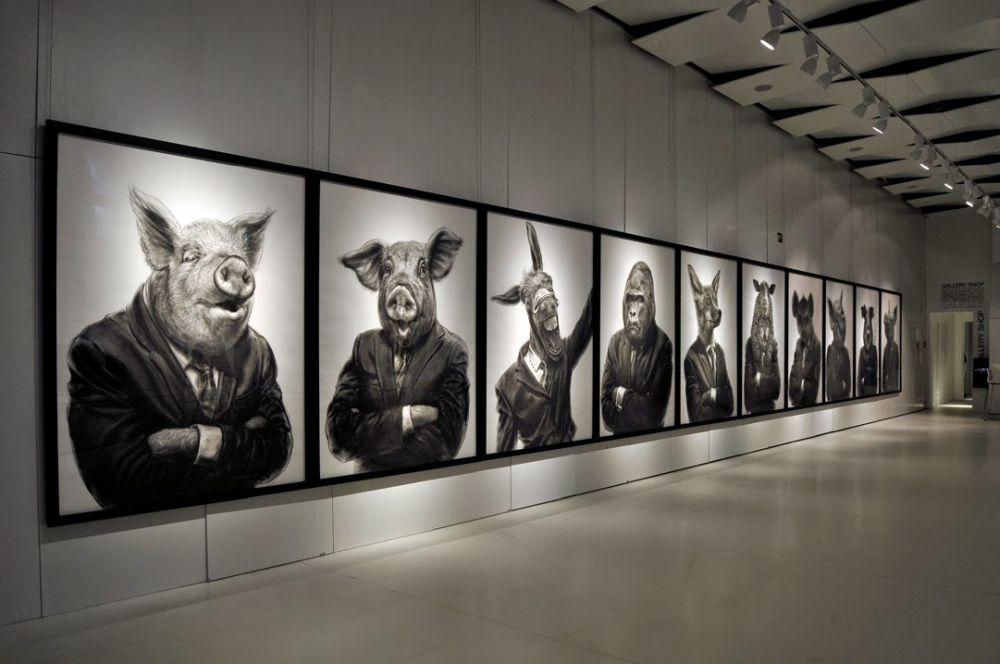 adelaparvu.com despre expozitia Political Bestiary, Galeria Galateca, 2014, Artist Valeriu Mladin (1)