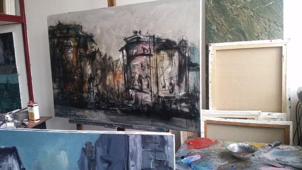adelaparvu.com despre atelierul pictorului Eugen Raportoru, test SeeColors Samsung (18)