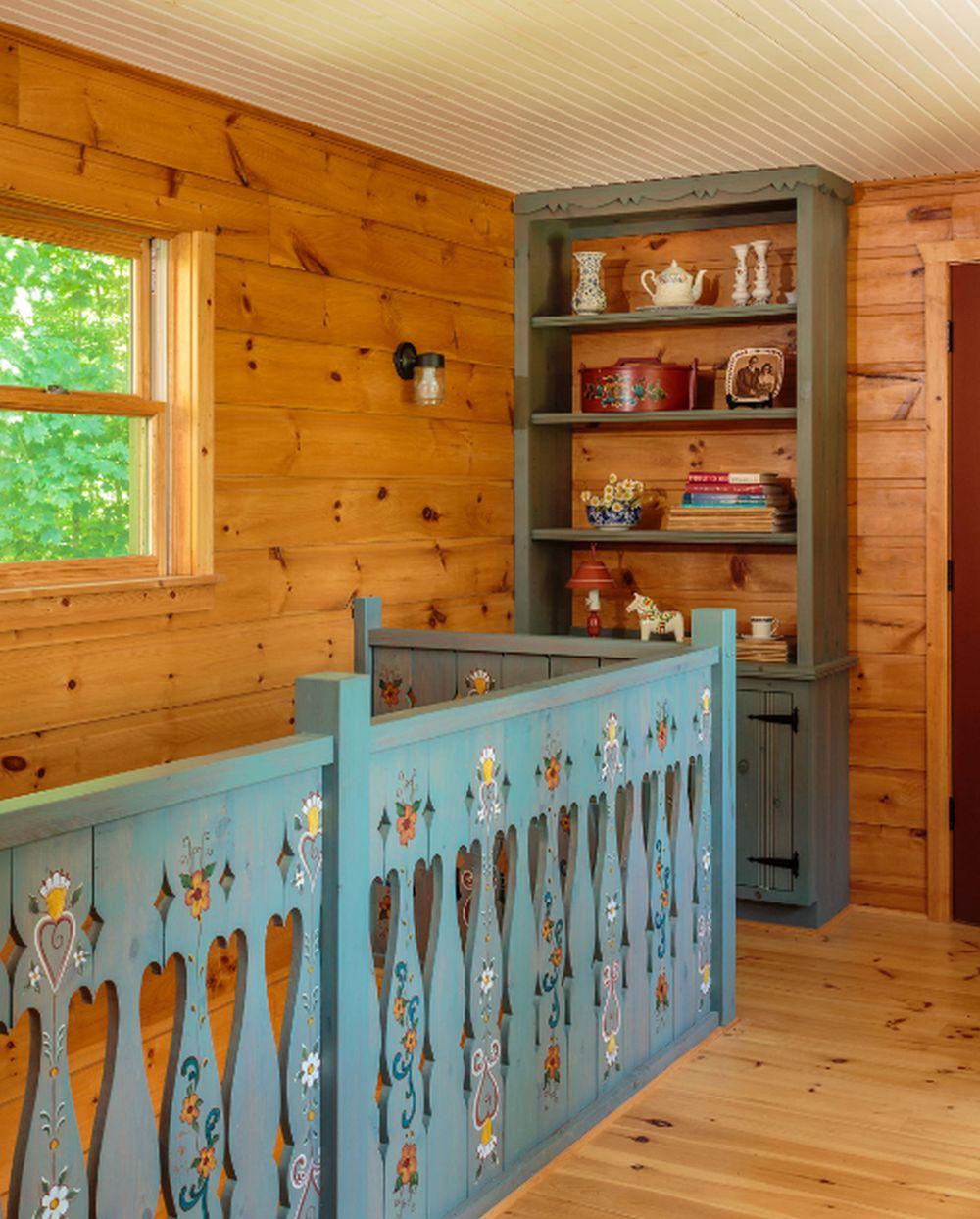 adelaparvu.com despre cabana rustica cu picturi scandinave, design Virge Temme Architecture, Foto Mark Lohmann (5)