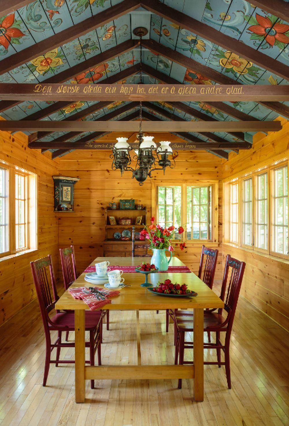 adelaparvu.com despre cabana rustica cu picturi scandinave, design Virge Temme Architecture, Foto Mark Lohmann (6)