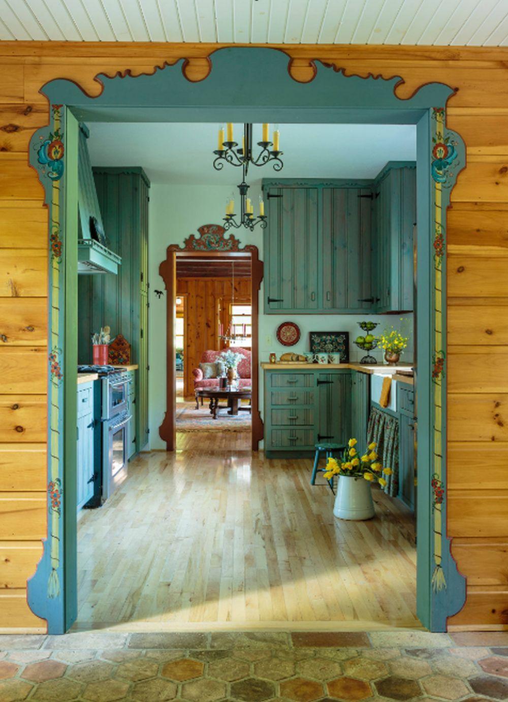 adelaparvu.com despre cabana rustica cu picturi scandinave, design Virge Temme Architecture, Foto Mark Lohmann (9)