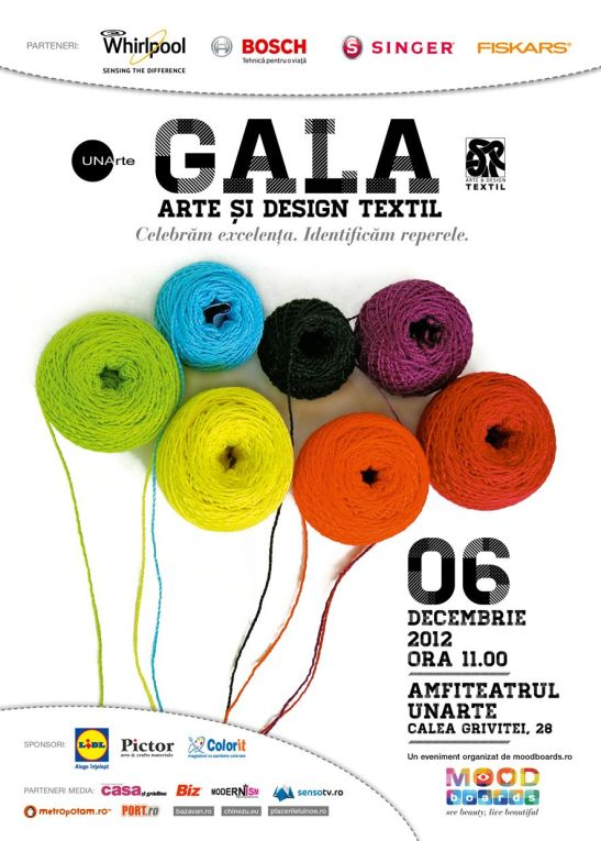 Afisul Gala Arte si Design Textil 2012