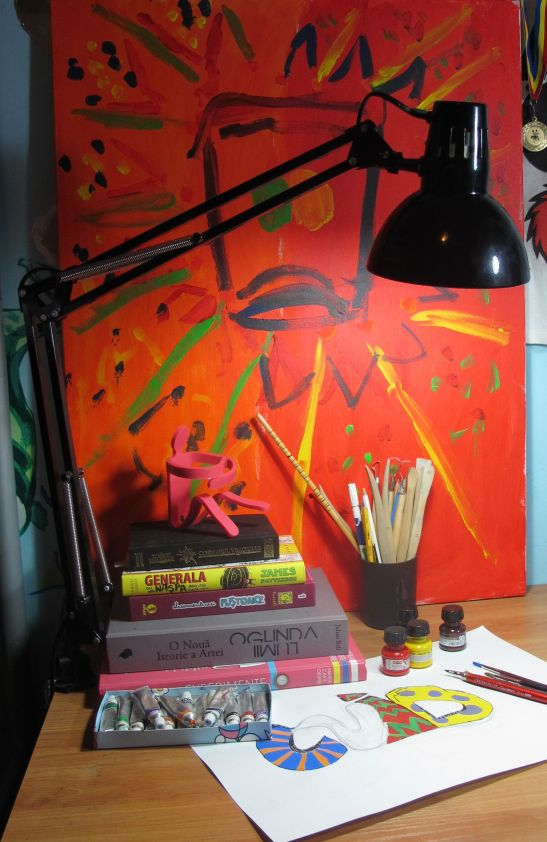 Lampa de birou Klausen negru