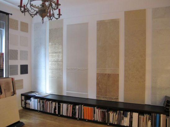 Mostre de placari cu faianta pretioasa in showroomul Dream Home Design