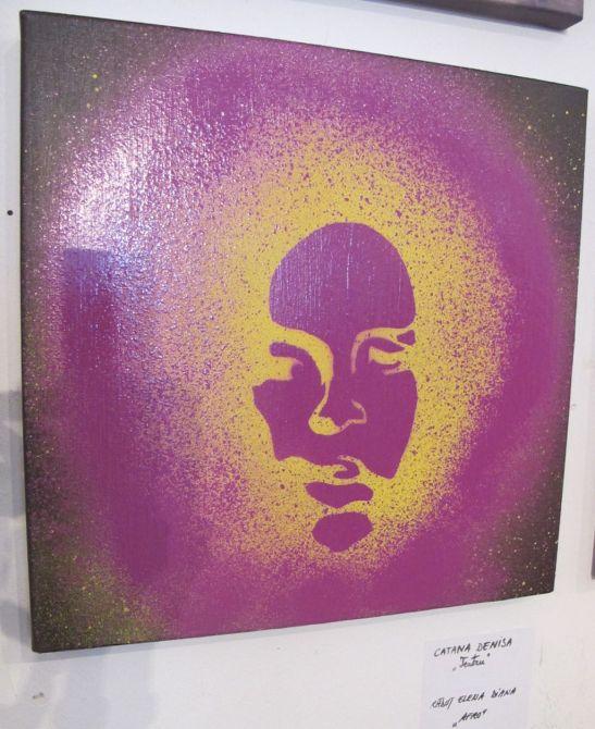 Afro de Elena Diana Radut expusa la Perceptia cromatica in teorie si practica Galeria UNArte