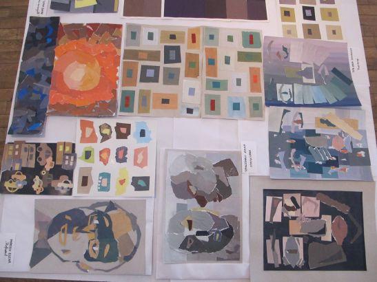 Lucrari din expozitia Preceptia cromatica in teorie si practica Galeria UNArte