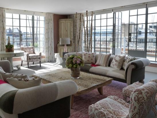 Detaliu din The Terrace Suite la The Soho Hotel, designer Kit Kemp