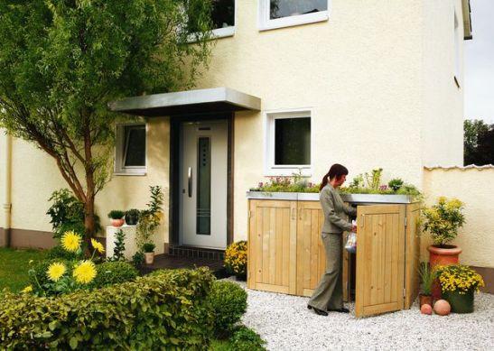 Sistemul de depozitare a gunoiului Binto cu capac pentru plante