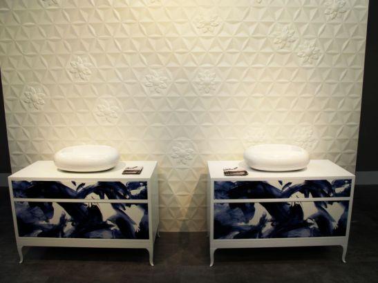 Placi cermaice Frozen Garden, design Marcel Wanders, de la Bisazza