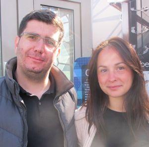 Arhitectii Bogdan Samoila si Oriana Fugaciu