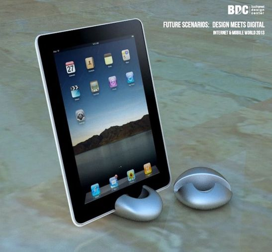 Suport tableta printat 3D AIRA Design Studio designeri Irina Alexandru si Tatiana Carp