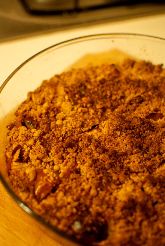 Prăjitură cu mere si unt de arahide