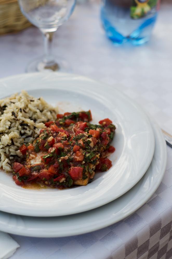 somon, orez salbatic, salsa