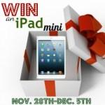 iPad Mini Giveaway! It's Here!