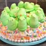 Marshmallow Peeps Spring Cake