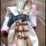 Denim Napkin Rings Repurposed From Old Jeans
