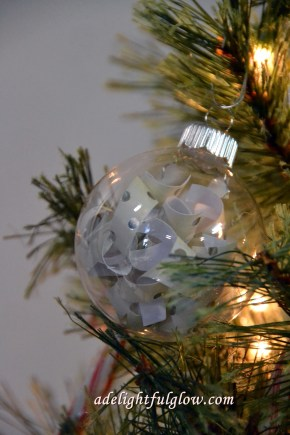 Christmas Ornaments ~ Glass and Paper ~ DIY