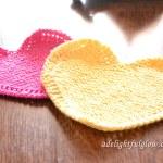 Hearts dishcloth