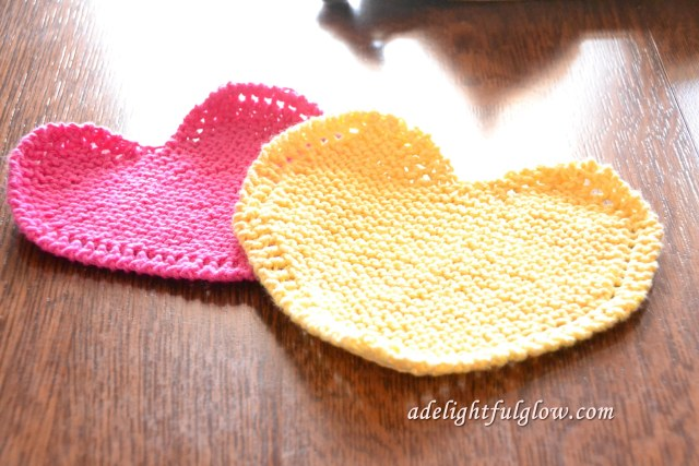 Hearts dishcloths