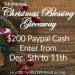 Christmas Blessing Giveaway {$200 PayPal Cash}