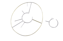 Adeline Cacheux Jewelry Design Boucle asymétrique line vautrin